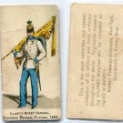 STANDARD BEARER, AUSTRIA N224 Kinney Military Uniforms 1886 Tobacco Card