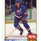 PAT LaFONTAINE 1990 Topps Team Scoring Leaders #10 New York NY Rangers