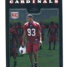 CALAIS CAMPBELL 2008 Topps Chrome #TC239 ROOKIE Arizona Cardinals MIAMI CANES