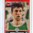 ANDREA BARGNANI 2006-07 Topps #255 ROOKIE Toronto Raptors