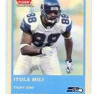 ITULA MILI 2004 Fleer BLUE SP #301 Seahawks HAWAII BYU Cougars KAHUKU High School