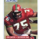 JOE CARTER 1991 Pro Set WLAF #123 PITT Panthers DE