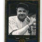 BABE RUTH 2001 SP Legendary Cuts #78 New York NY Yankees