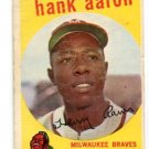 HANK HENRY AARON 1959 Topps #380 Milwaukee Braves BV $150