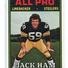 JACK HAM 1974 Topps #137 2nd YEAR Steelers PENN STATE Nittany Lions