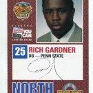 RICH GARDNER 2004 Senior Bowl card PENN STATE Titans PRE-ROOKIE