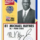 MICHAEL HAYNES 2003 Senior Bowl card PENN STATE Bears PRE-ROOKIE