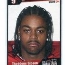 THADDEUS GIBSON 2006 Big 33 Ohio High School card STEELERS Ohio State Buckeyes