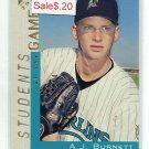A.J. AJ BURNETT 2000 Topps Gallery #127 ROOKIE New York NY Yankees