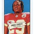 JAMAAL CHARLES 2010 Topps 1952 52 Bowman INSERT #52B-48 KC Chiefs TEXAS Longhorns