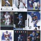 $.05 SALE:   (9) BRANDON JACOBS lot New York NY Giants
