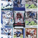 $.05 SALE:   (9) EDGERRIN JAMES lot Colts CARDINALS Miami Hurricanes CANES