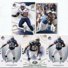 $.05 SALE:   (5) SHAWN MERRIMAN lot San Diego SD CHARGERS Maryland Terps