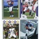 $.05 SALE:   (4) STEVE McNAIR lot LIONS Oilers TITANS Ravens QB