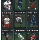 (9) 2008 Topps Chrome Football ROOKIE SALE lot #2