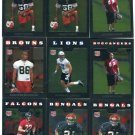 (9) 2008 Topps Chrome Football ROOKIE SALE lot #3
