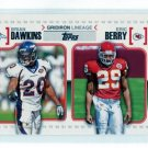 BRIAN DAWKINS & ERIC BERRY 2010 Topps Gridiron Lineage INSERT ROOKIE KC Chiefs CLEMSON Broncos VOLS