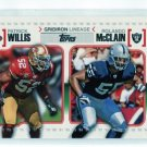 PATRICK WILLIS & ROLANDO McCLAIN 2010 Topps Gridiron Lineage INSERT ROOKIE 49ers RAIDERS