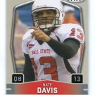 NATE DAVIS 2009 Sage Hit Low Series #13 ROOKIE 49ers BALL STATE QB