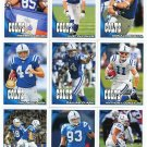 (12) Indianapolis COLTS New 2010 Topps TEAM LOT Stars