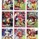 (9) San Francisco SF 49ers New 2010 Topps TEAM LOT Stars