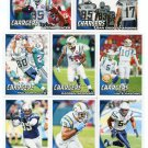 (8) San Diego SD CHARGERS New 2010 Topps TEAM LOT Stars