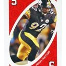 JAMES HARRISON 2009 Uno Card Game RED-5 Steelers
