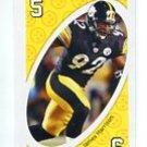JAMES HARRISON 2009 Uno Card Game YELLOW-5 Steelers