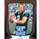 JIMMY CLAUSEN 2010 Topps 75th Draft INSERT ROOKIE Carolina Panthers Notre Dame Fighting Irish QB