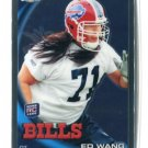 ED WANG 2010 Topps Chrome ROOKIE Bills VIRGINIA TECH Hokies