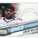 JEREMY WILLIAMS 2010 Playoff Prestige BLUE SP #252 ROOKIE Chargers TULANE #d/999