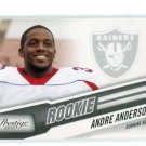ANDRE ANDERSON 2010 Playoff Prestige #202 ROOKIE Raiders TULANE