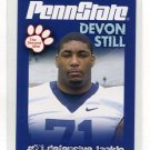 DEVON STILL 2010 Penn State Second Mile College Card NITTANY LIONS Benglas DT