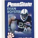 EVAN ROYSTER 2010 Penn State Second Mile RB Washington Redskins
