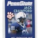 JACK CRAWFORD 2010 Penn State Second Mile College Card RAIDERS Dallas Cowboys