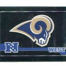 ST. LOUIS RAMS Football Helmet 2010 Panini Sticker #520
