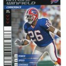 ANTOINE WINFIELD 2001 NFL Showdown First 1st & Goal #23 BILLS Vikings OHIO STATE Buckeyes