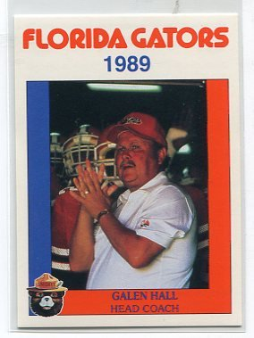 COACH GALEN HALL 1989 Florida Gators Police Set card PENN STATE Offensive Coordinator