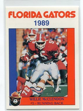 WILLIE McCLENDON 1989 Florida Gators Police Set card RB