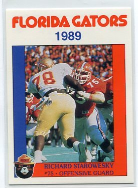 RICHARD STAROWESKY 1989 Florida Gators Police Set card OG