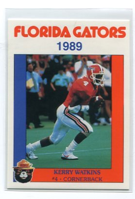 KERRY WATKINS 1989 Florida Gators Police Set card CB