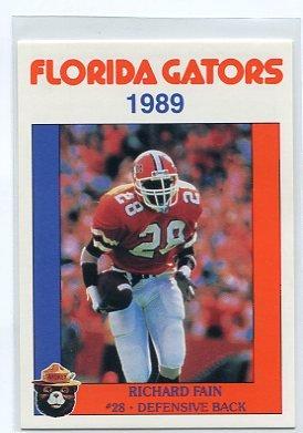 RICHARD FAIN 1989 Florida Gators Police Set card DB