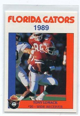 TONY LOMACK 1989 Florida Gators Police Set card WR