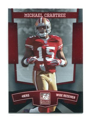 MICHAEL CRABTREE 2010 Donruss Elite #84 49ers TEXAS TECH Red Raiders