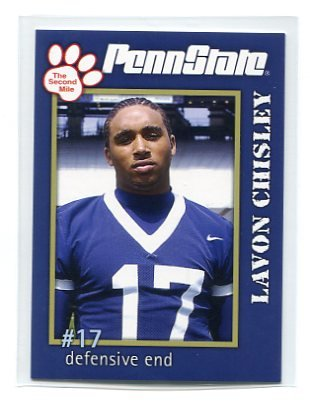 LAVON CHISLEY 2005 Penn State Second Mile College card PRE-ROOKIE