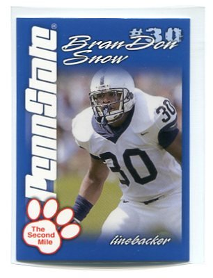 BranDON SNOW 2004 Penn State Second Mile College card PRE-ROOKIE