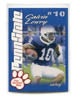 CALVIN LOWRY 2004 Penn State Second Mile College card PRE-ROOKIE Tennessee Titans