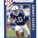 CALVIN LOWRY 2005 Penn State Second Mile College card PRE-ROOKIE Tennessee Titans