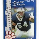 SCOTT DAVIS 2004 Penn State Second Mile College card PRE-ROOKIE