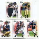 QUARTERBACK SALE:  (5) 2005 Topps Draft Picks and Prospects DP&P QB lot